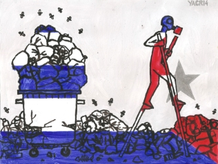 La ineficiencia de la recogida de los desperdicios y la expandida indisciplina social han hecho de la basura un elemento habitual en el paisaje urbano