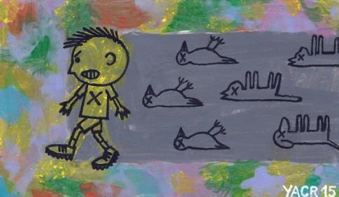 La sombra: La apatía social hace que aquellos niños de comportamiento violento abusen impunemente de seres indefensos y desprotegidos por la ley.