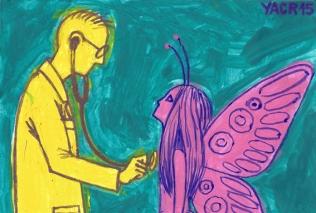 Coexistencia: Esta ilustración está inspirada en la necesidad de una relación respetuosa entre la ciencia y los fenómenos de la naturaleza que no son explicables racionalmente